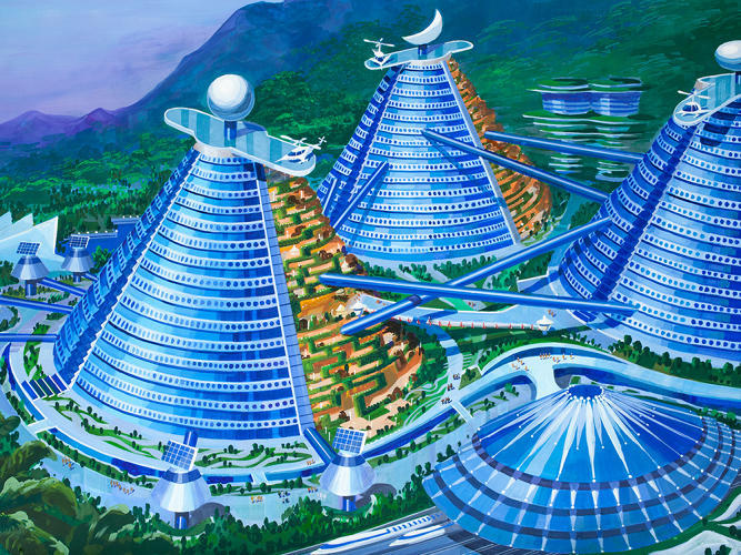 """Illustration from the """"Utopian Tours"""" design competition. Image via fastcoexist.com"""