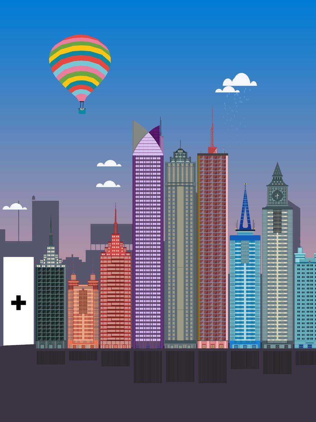 """Skyscrapers"" by Brooklyn-based studio Tinybop. Image: Courtesy Tinybop"
