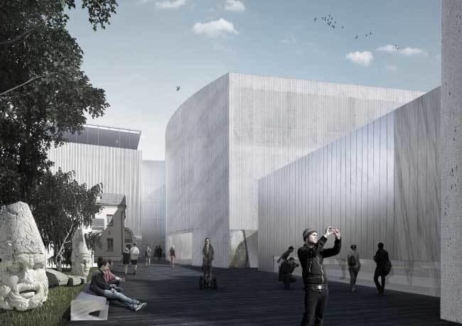The winning design by Yuri Grigoryan's firm Project Meganom (Image via theartnewspaper.com)