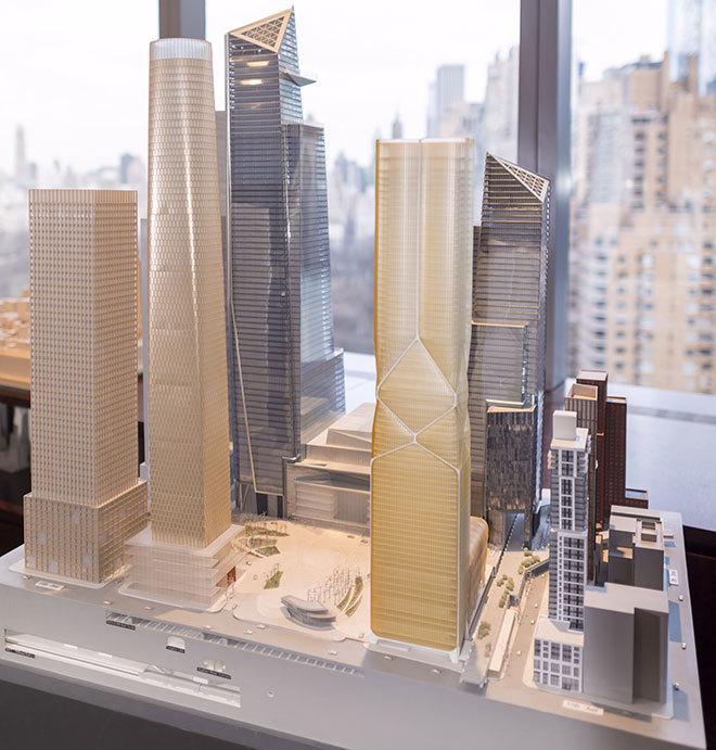 A model of the Hudson Yards development. Photo: Tyson Reist