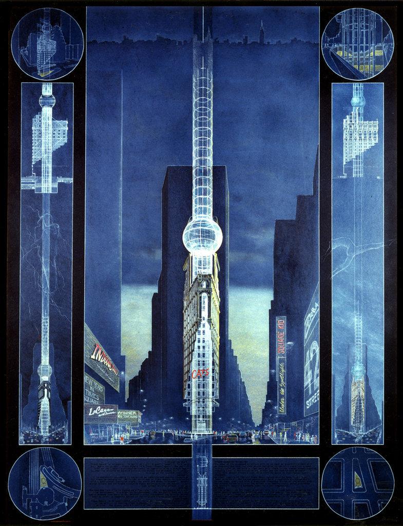 'Times Square, 1984'; image via nytimes.com, courtesy of The Skyscraper Museum