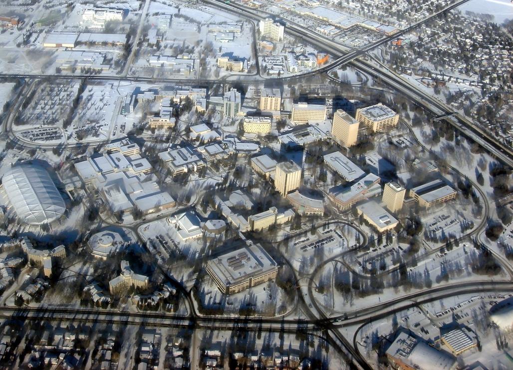 The University of Calgary from above. Image via wikimedia.org
