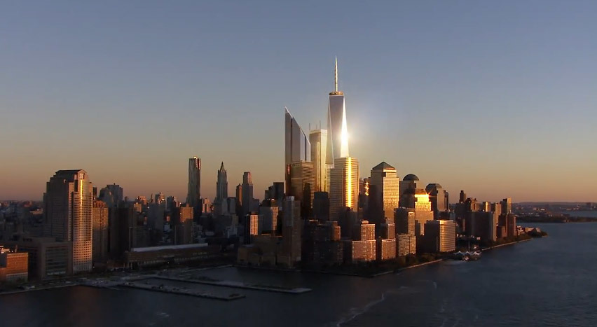 "Still from ""Rising: Rebuilding Ground Zero"" (Image: dbox)"