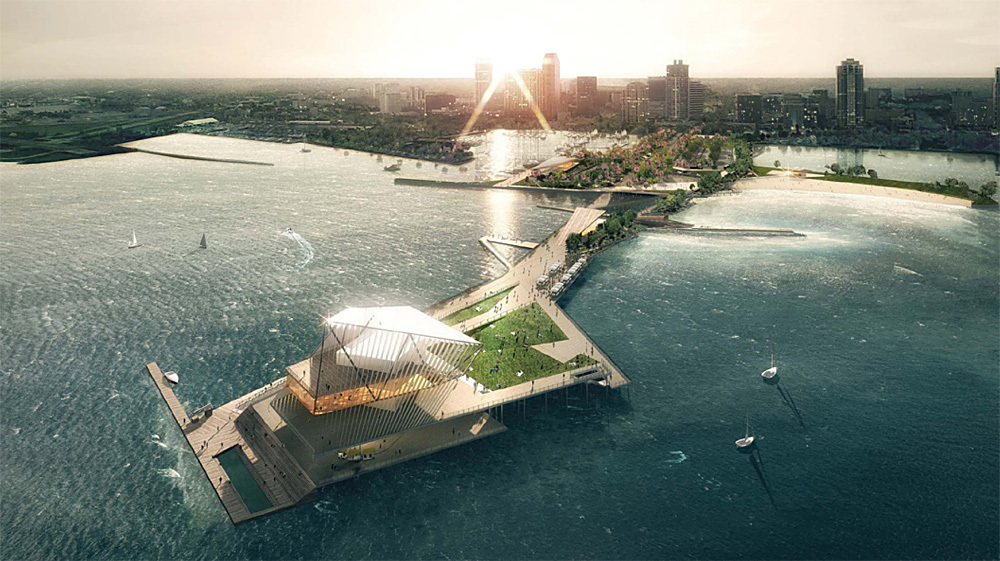 """The Pier Park"" by Rogers Partners Architects+Urban Designers, ASD, and Ken Smith. Rendering: LUXIGON"