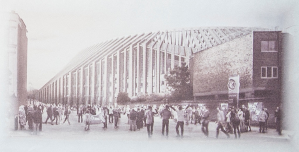 The proposed view from Fulham Road of the West Stand. Photograph: Jack Megaw/Focus Images Limited