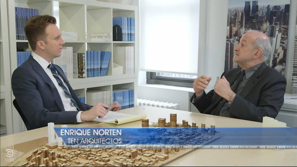 Jordan Klepper with Enrique Norten