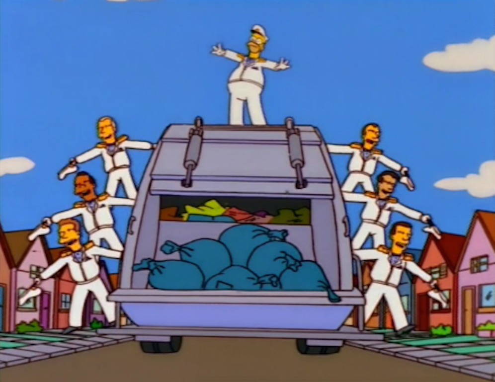 """Homer the Garbage Man from """"Trash of the Titans"""". Image via neogaf.com."""