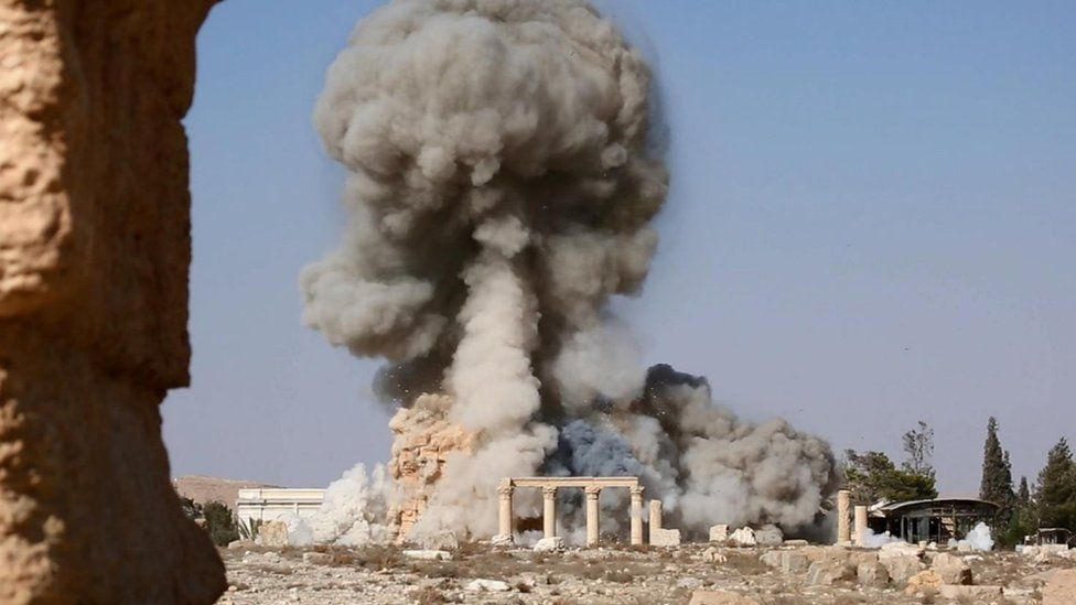 Among the many cultural treasures ISIS militants chose to destroy during their short reign over the ancient city of Palmyra was the 2,000-year-old Temple of Baalshamin. It was blown up in July or August 2015. (Image: Wikipedia)