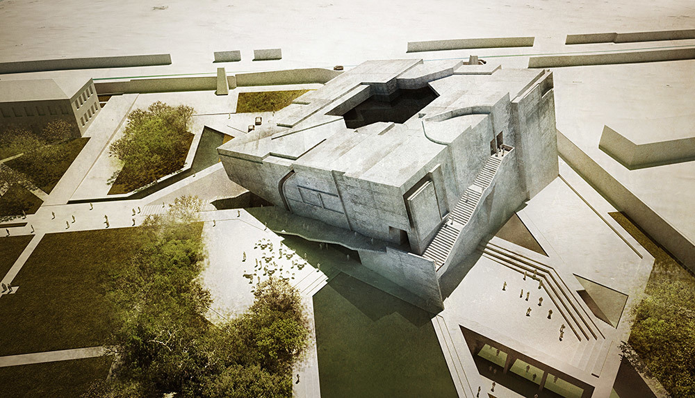 """""""Timeless Cube"""", entry for the National Museum of Afghanistan competition by Matteo Cainer Architects (Image: Matteo Cainer Architects)"""