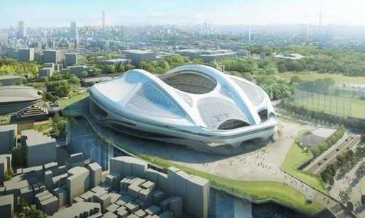 Zaha Hadid's rejected design for the New National Stadium.