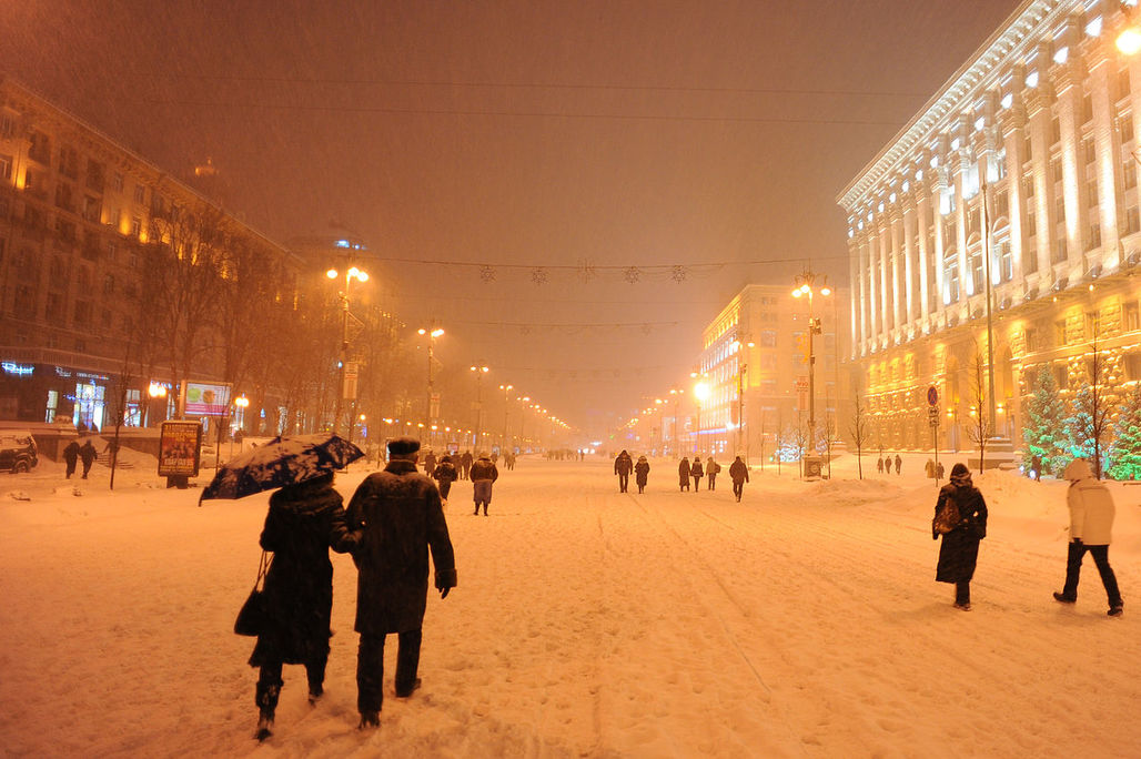 Kiev's Stalinist Khreshchatyk boulevard is a popular tourist destination and closed to road traffic on weekends and public holidays. (Photo: Mstyslav Chernov; Image via Wikipedia)