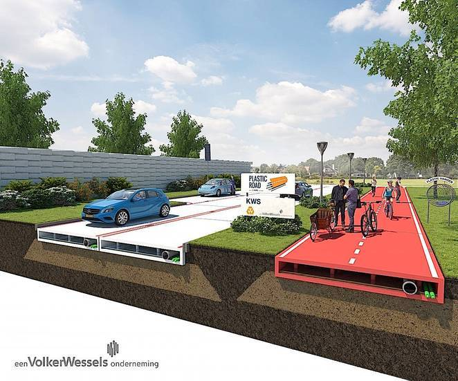 VolkerWessels plastic pavement proposal (image via treehugger.com)