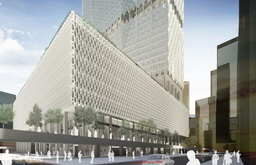 Finalist VOA Architecture, PLLC and Werner Sobek New York Corp's proposal for the Met Life Building. Image: VOA Architecture, PLLC and Werner Sobek New York Corp. via PDF.