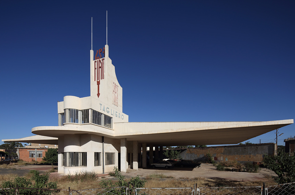 "RIBA President's Medal for Research winner: ""Asmara – Africa's Modernist City: UNESCO World Heritage Nomination"". Depicted: Tagliero - Former Fiat Garage. Photo © Edward Denison."