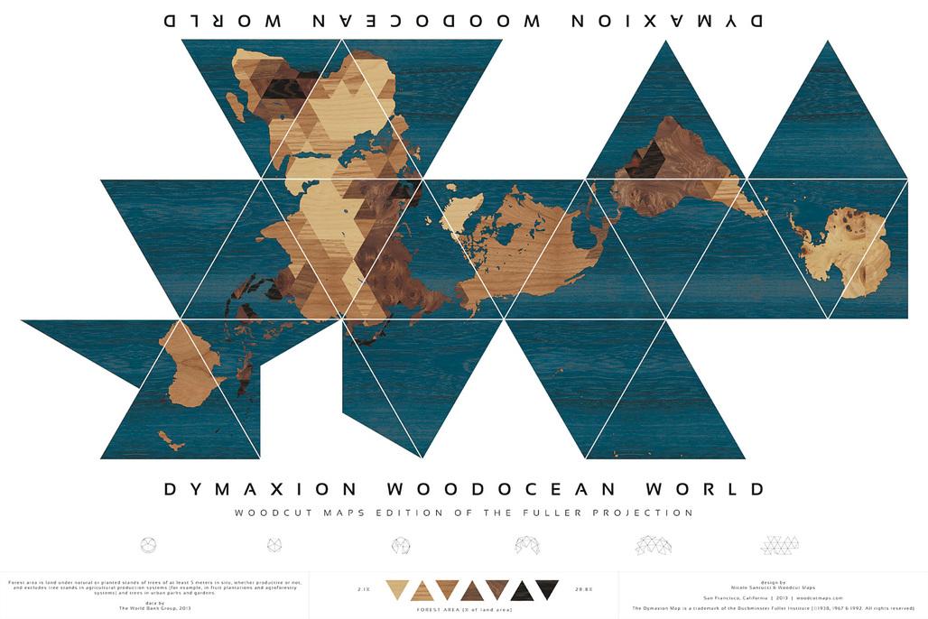 Winner: Dymaxion Woodocean World, Nicole Santucci + Woodcut Maps, United States