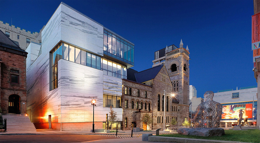 URBAN ARCHITECTURE: Montreal Museum of Fine Arts - Claire & Marc Bourgie Pavilion of Quebec and Canadian Art (Montreal, QC) by Provencher Roy. Photo: Marc Cramer