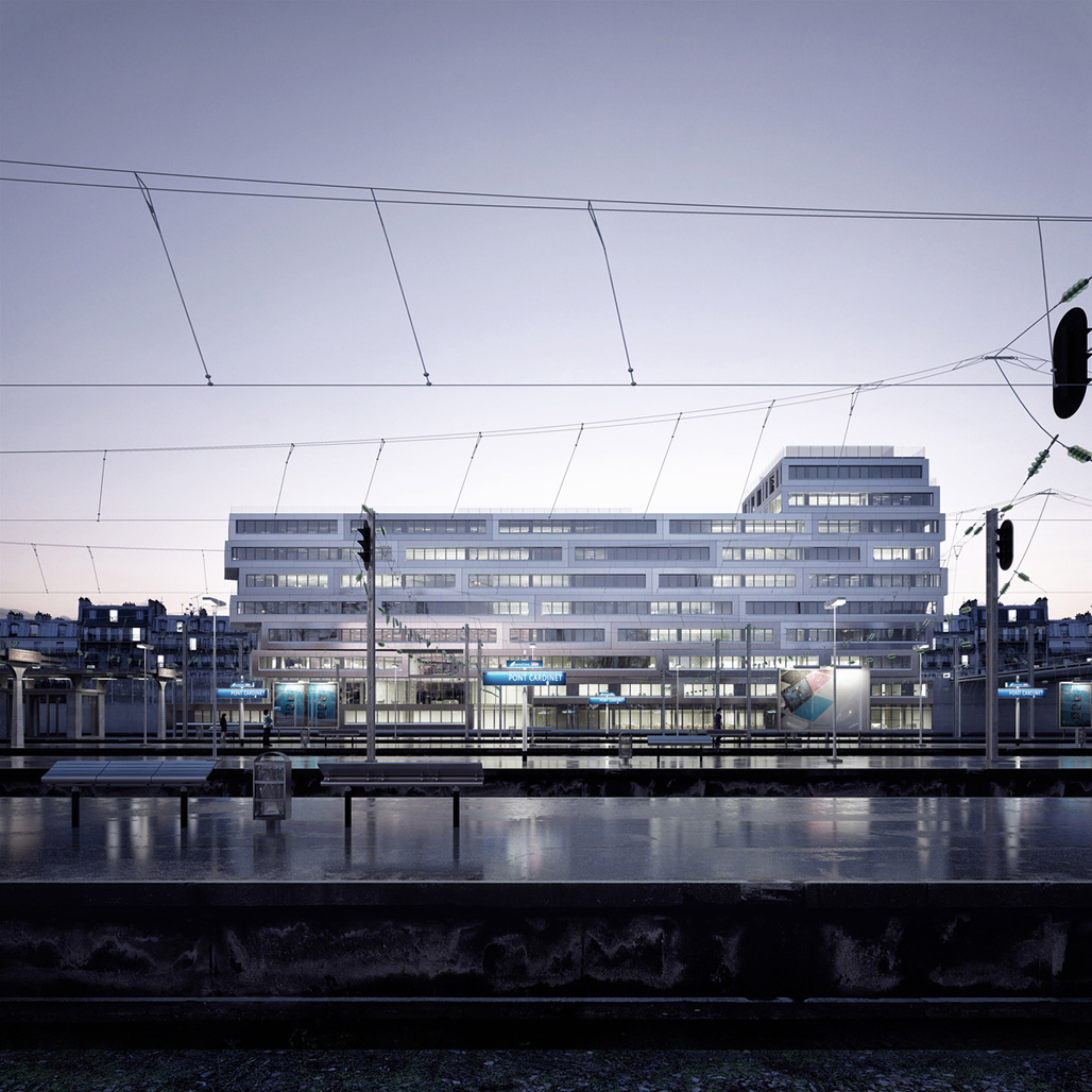 RSI Studio's winning image is a visualization of an office building in Paris by Hardel Lebihan Architectes. Image © RSI-studio