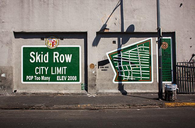 A mural in Skid Row. Photo: Stephen Zeigler