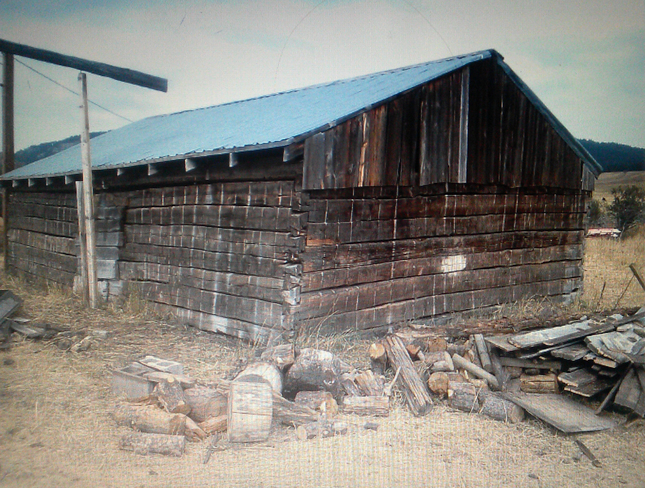 An old homesteader cabin salvaged by Novato contractor Karl Beckmann. It is now a dining room in the new Twitter headquarters in San Francisco. Courtesy of Karl Beckmann, via Marin Independent Journal.