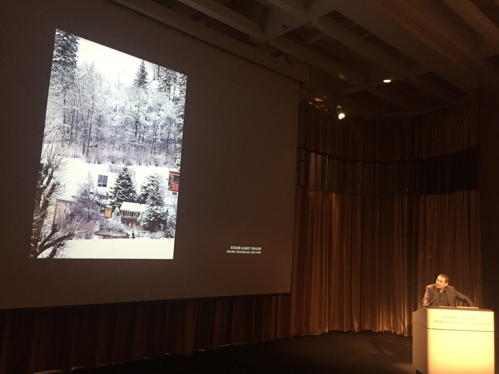 Iñaki Ábalos presents at the Heliomorphism conference. Photo by Anthony Morey.
