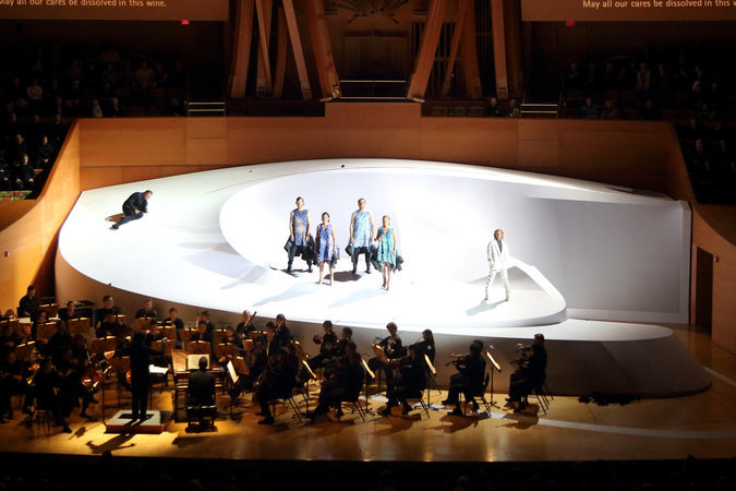 """Opening night of """"Così Fan Tutte"""" at Walt Disney Concert Hall in Los Angeles. (The New York Times)"""