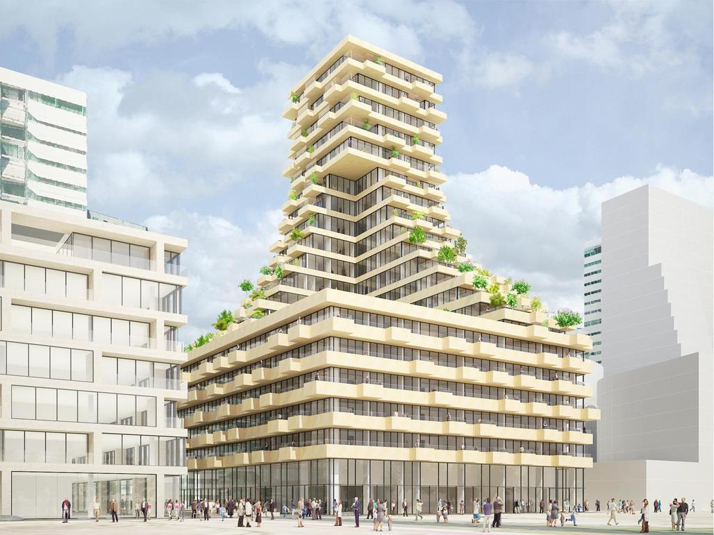 Gershwin Plot 14 proposal by NL Architects. Image courtesy of NL Architects.