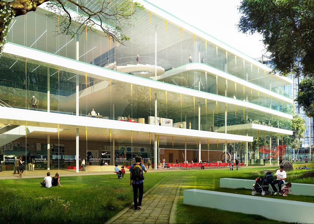 Close view from the park (Image: Kubota & Bachmann Architects+Martinez)
