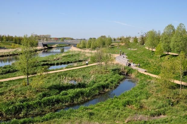 The wetlands of East London's Upper Lea Valley. (Ron Ellis/Shutterstock.com; via citylab.com)