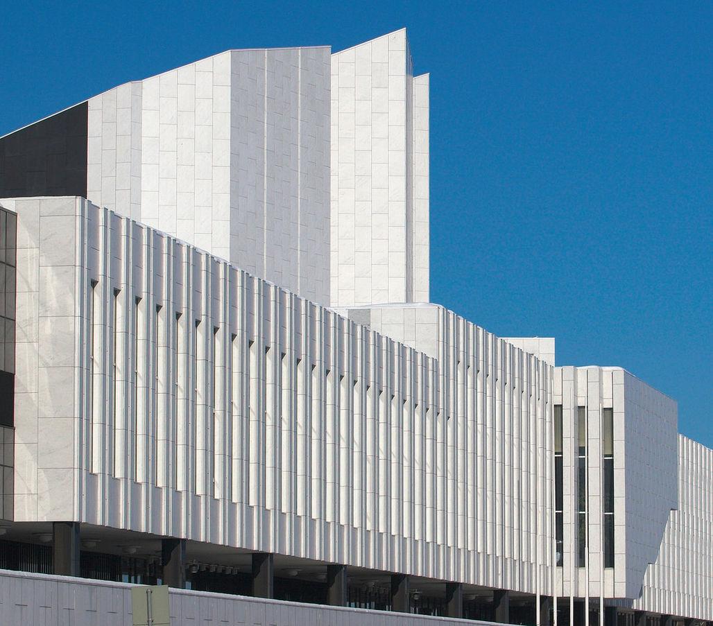 Finlandia, designed by Alvar Aalto. Image: Wikipedia