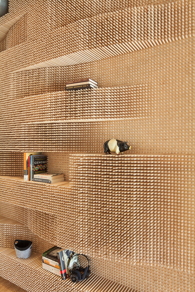 Peg Wall in Chelsea, MA by Merge Architects; Photo: John Horner Photography/Kevin Buzzell