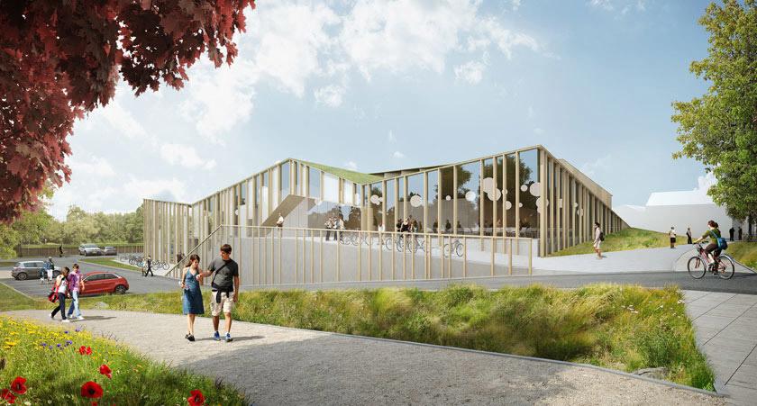 Competition-winning design for the new community center 'Het Anker' in Zwolle, The Netherlands by MoederscheimMoonen Architects (Image: MoederscheimMoonen Architects)