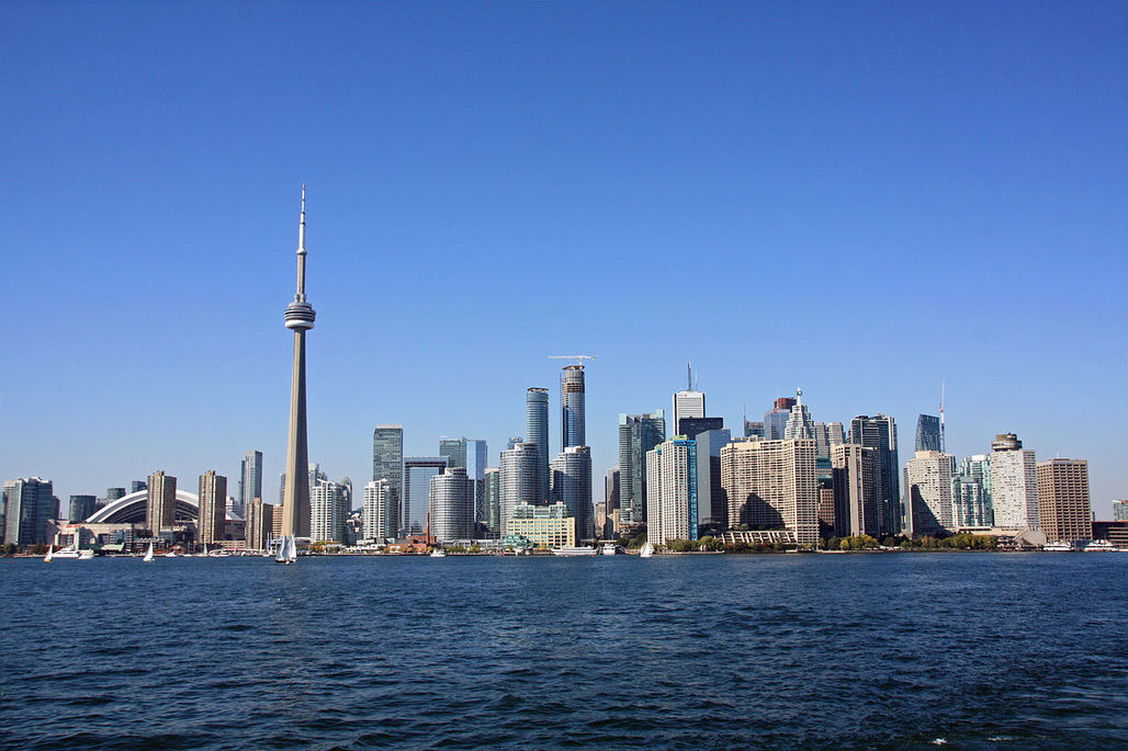 The view of the Toronto Skyline also includes acres upon acres of potential farmland. (Image via Wikipedia)