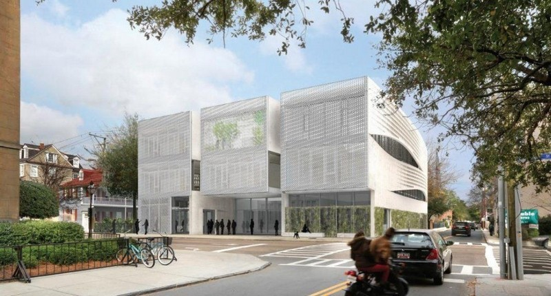 An architect's rendering shows the proposed Clemson Architecture Center at 292 Meeting Street in Charleston. Image via postandcourier.com