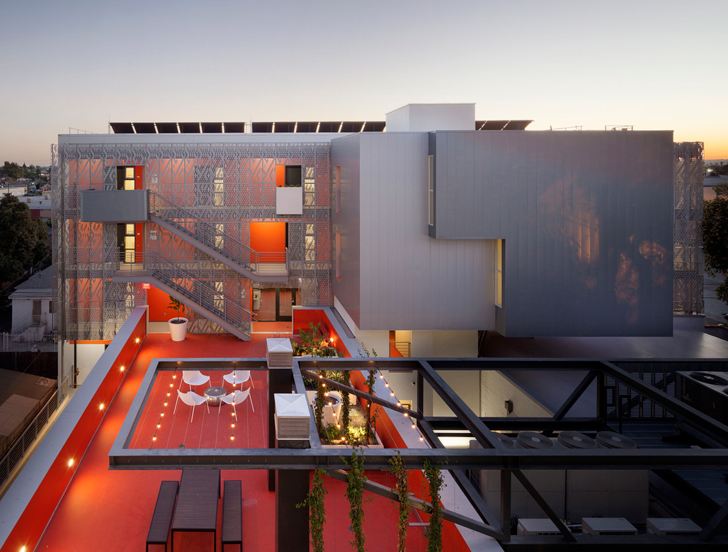 Category One: Excellence in Affordable Housing Design Award - 28th Street Apartments (Los Angeles) by Koning Eizenberg Architects, Inc. Photo © Eric Staudenmaier