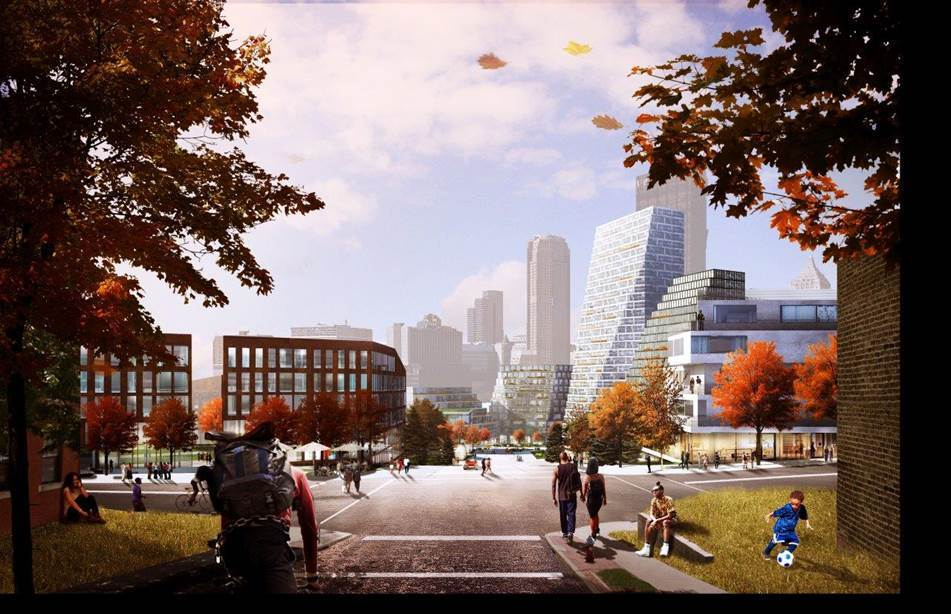 Stroll through this: a view of BIG's master plan for Pittsburgh (via BIG)