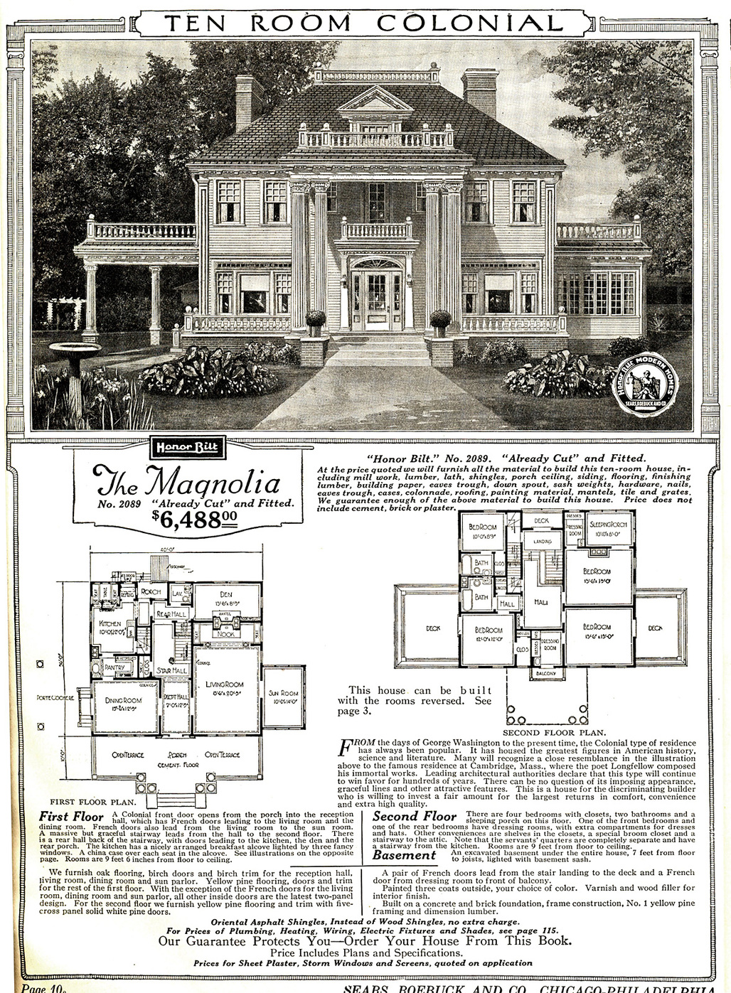 """This Sears """"Magnolia"""" mail-order house could have been yours for only $6,488! That 1921 price, adjusted for inflation, translates to $86,722 in 2016 dollars. (Image via Wikipedia)"""