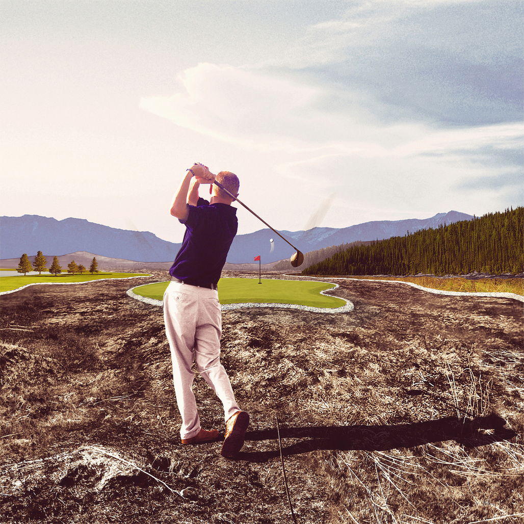"""From Mark Faulkner's """"Playing with Fire: Golf takes a new Course of action"""" proposal."""