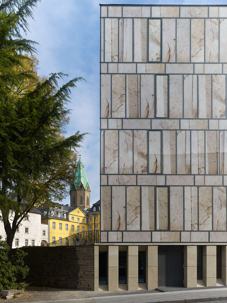 Folkwang Library (detail of facade) Photo- Stefan Müller.