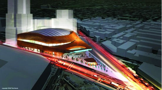 Barclays Center rendering (2011), SHoP Architects.
