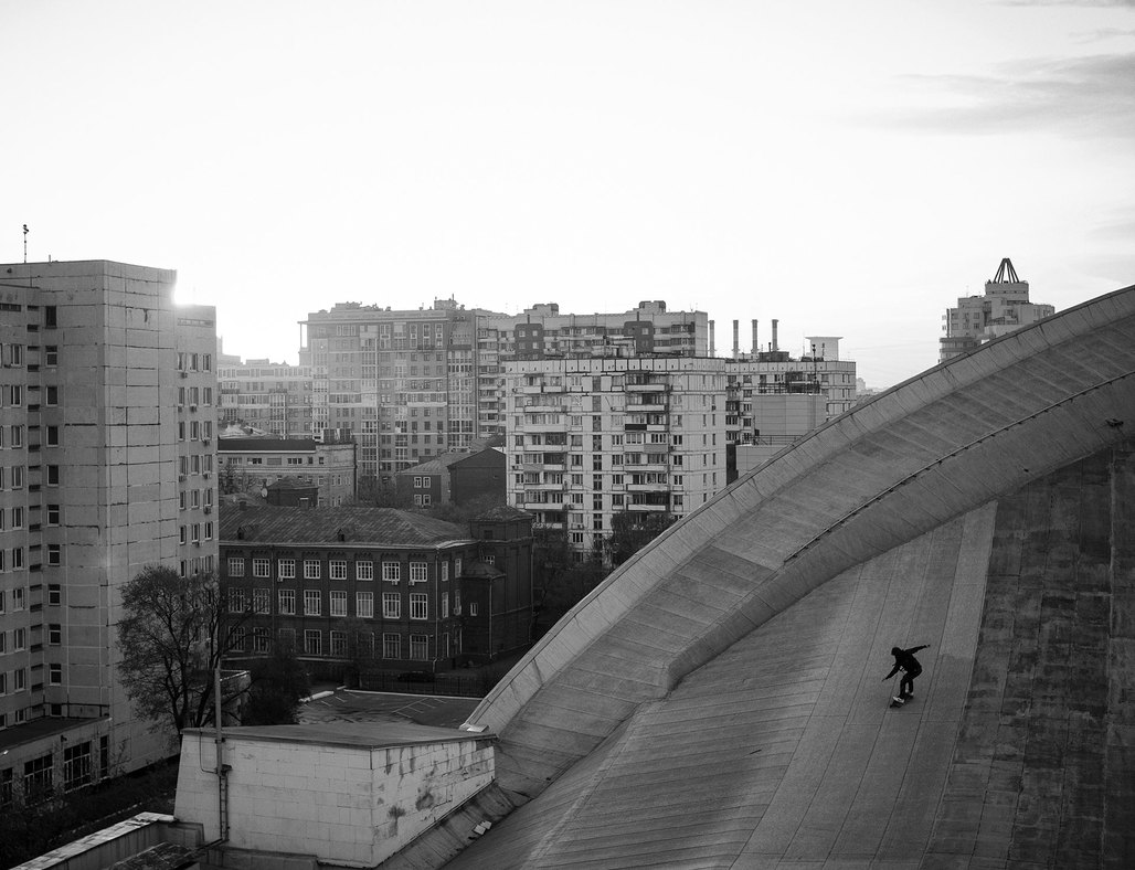 As more and more once-public buildings in Moscow become privatized and increasingly off-limits, the city's youth reclaims the most exciting, hidden spaces. (Photo: Pasha Volkov; image via calvertjournal.com)