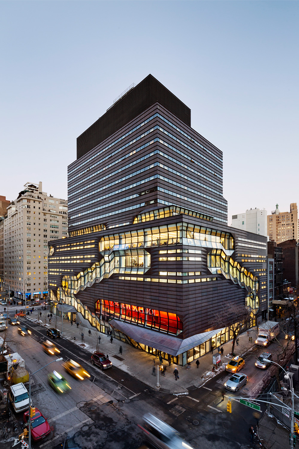 University Center – The New School; New York City by Skidmore, Owings & Merrill LLP. Photo © James Ewing