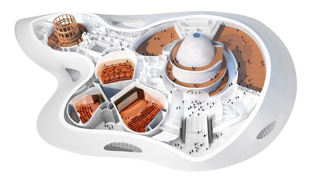 The MAD design for the Lucas Museum of Narrative Art. Image via lucasmuseum.org.