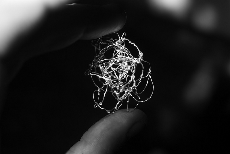 """NF1. Wire Sculpture by Emma McNally, who will be exhibiting at the """"Abstract Drawing"""" exhibition in London's Drawing Room starting February 2014. Photo from EmmaMcNally1 on flickr."""