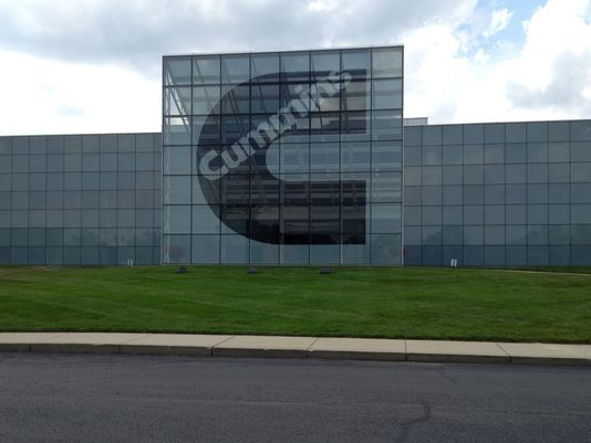 Even Cummins' main Engine Plant near downtown Columbus has a striking modernistic architectural design. (IndyStar; Photo: Star photo/Jeff Swiatek)