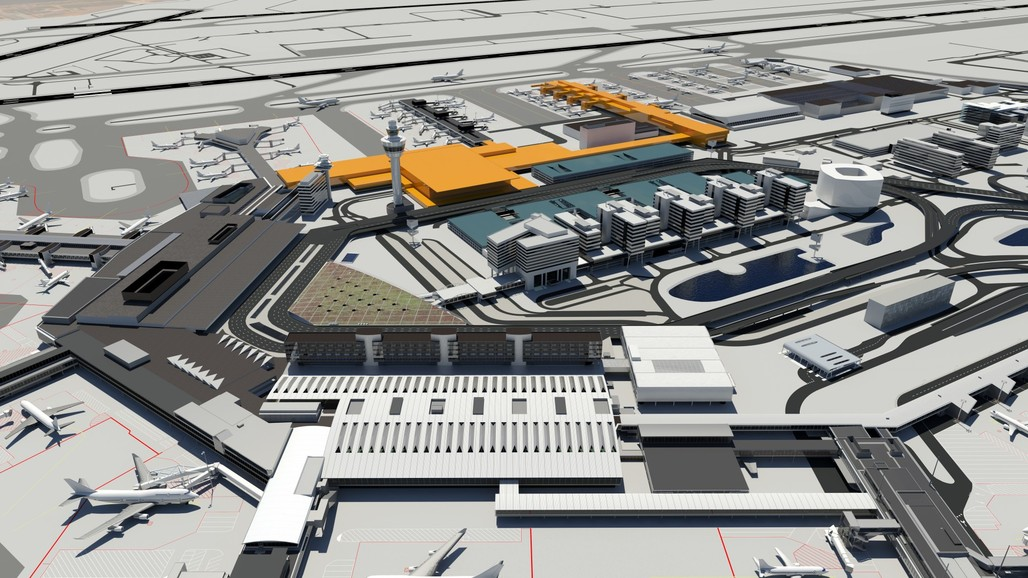 Artist impression of new pier and terminal. Courtesy of Schiphol Airport