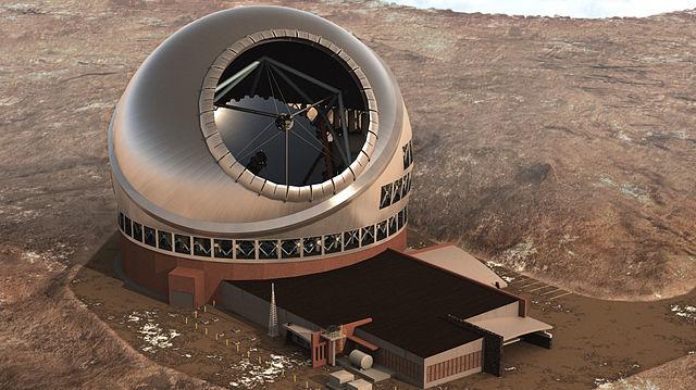Artist's rendering of the $1.4 billion Thirty Meter Telescope. Courtesy TMT Observatory Corporation.