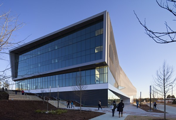 The Snøhetta-designed James B. Hunt Jr. Library on North Carolina State University's Raleigh campus opened in January to critical acclaim. It took five years and more than $100 million to build the 221,000 square feet library and its parking deck.