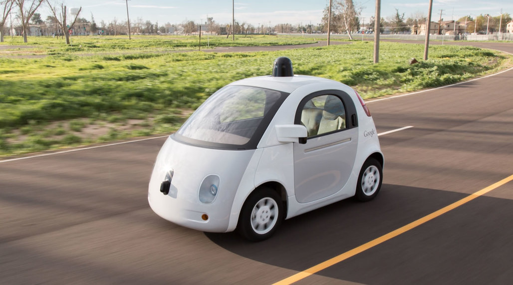One of Google's new prototype self-driving cars. Credit: Google