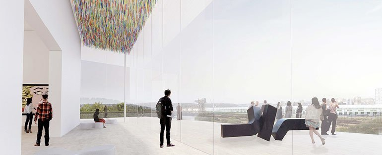 SANAA's winning concepts for the Art Gallery of New South Wales expansion.