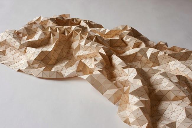 "A ""wooden textile"" by Elisa Strozyk. (Image via BLDGBLOG)"